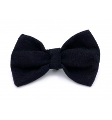 Noeud papillon pour collier - noir uni-Accueil
