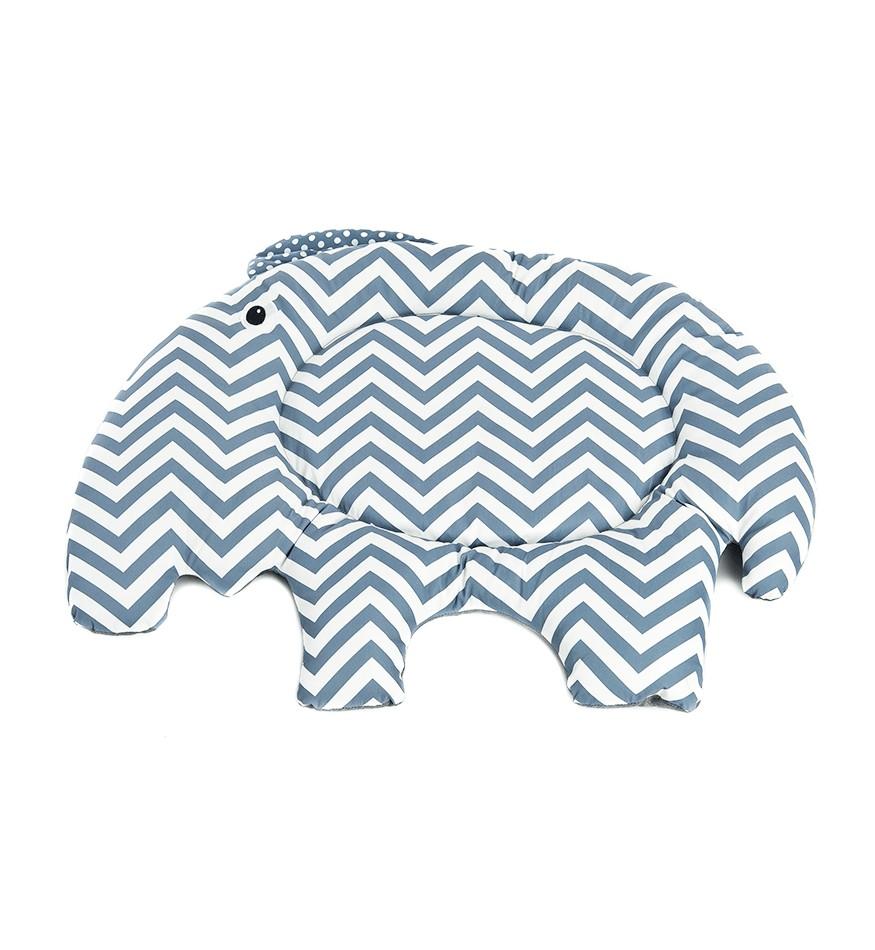 Tapis pour chien - éléphanteau bleu & blanc-Accueil