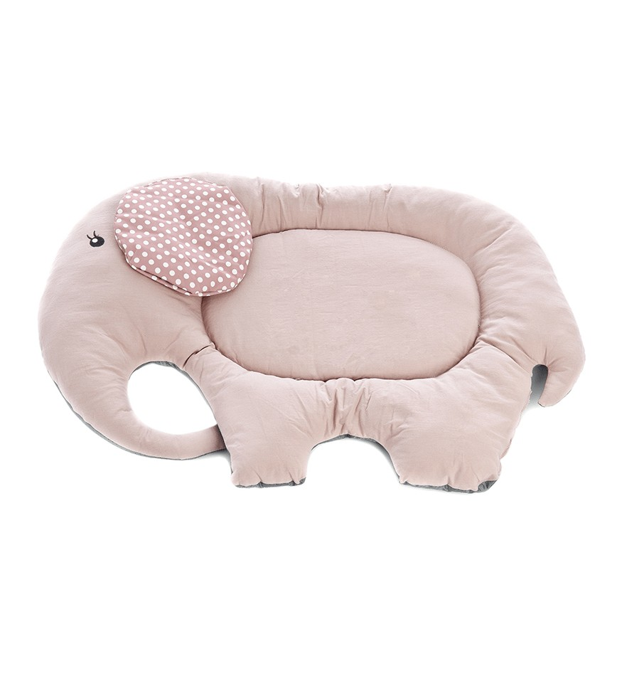 Tapis pour chien - éléphant rose & blanc-Accueil