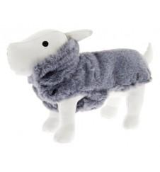 Manteau fausse fourrure pour chien - gris-Accueil