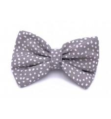 Noeud papillon pour collier - gris / blanc-Accueil