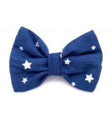Noeud papillon pour collier - étoiles indigo-Accueil