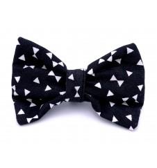 Noeud papillon pour collier - imprimé noir & blanc-Accueil