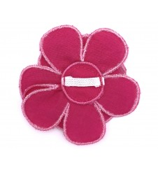 Fleur pour collier - rose fushia-Accueil