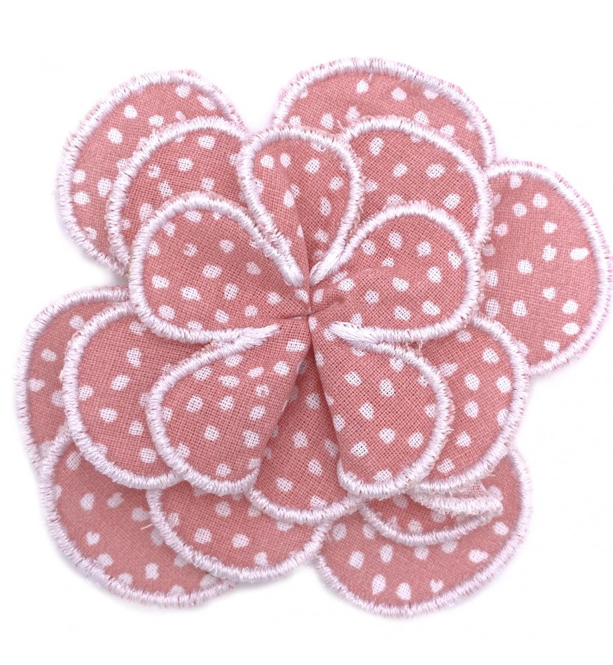 Fleur pour collier - corail / blanc-Accueil