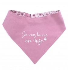 "Bandana réversible ""la vie en rose""-Accueil"